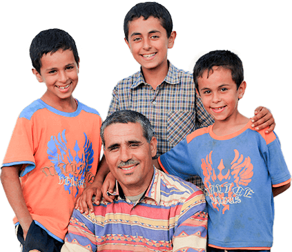 Middle Eastern Father And Sons